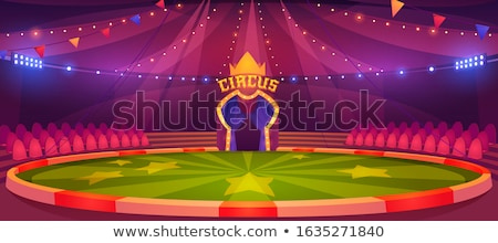 Red Circus Tent Interior Stock photo © silkenphotography