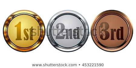Shiny 1st, 2nd and 3rd buttons Stock photo © burakowski