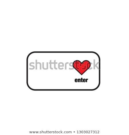 heart with cardiogram line on red keyboard button stock photo © tashatuvango