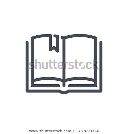 Livro marcar ícone fundo assinar teia Foto stock © tkacchuk