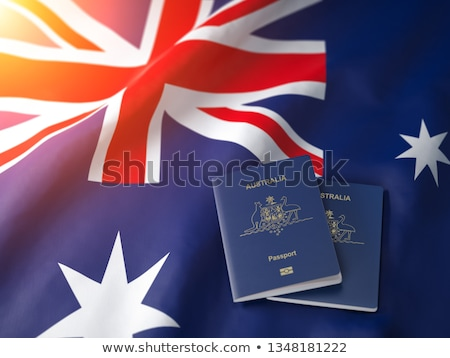 Australisch paspoort koffer Rood witte document Stockfoto © luapvision