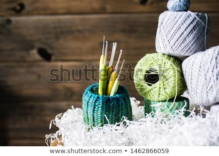 Crochê gancho fio branco trabalhar Foto stock © Es75