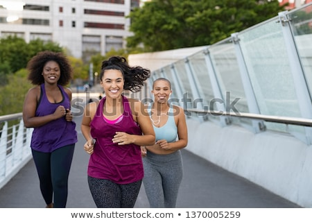 Black fitness woman young sport weights exercise  Stock photo © CandyboxPhoto