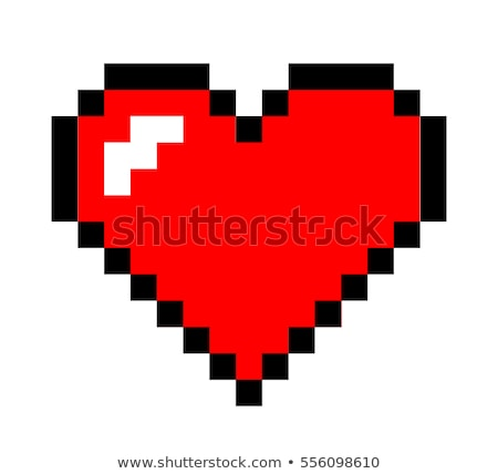 Red pixel heart Stock photo © gladiolus