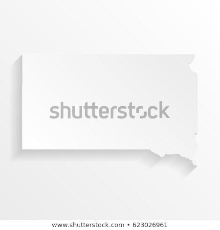 Harita Güney Dakota 3D biçim renkli mavi Stok fotoğraf © NiroDesign