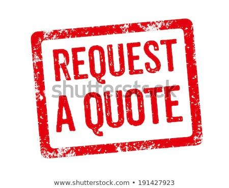 Rood stempel aanvragen citaat ontwerp frame Stockfoto © Zerbor