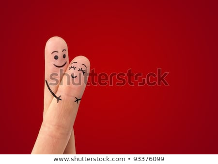 Stock photo: Couple of colorful smileys