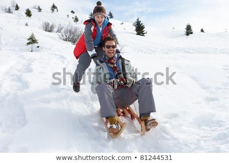 Fiatal apa fia család jókedv apa játék Stock fotó © monkey_business