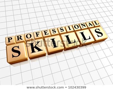 talent management in golden cubes stock photo © marinini