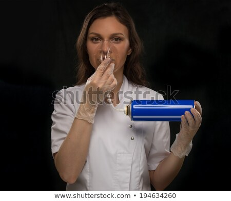 Doctor holding can oxygen breathing  Stock photo © HASLOO