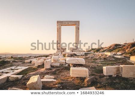 coluna · pormenor · tradicional · Grécia · arquitetura · pedra - foto stock © emirkoo