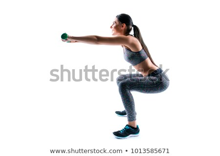 Female ass, white background, copyspace Stock photo © Nobilior