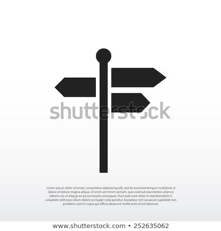 Placa sinalizadora ícones estoque vetor casa casa Foto stock © punsayaporn