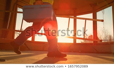ladder in rooms on a construction site stock photo © franky242