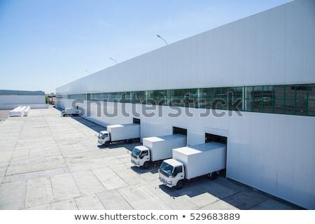 nouvelle · entrepôt · vide · tablettes · distribution · usine - photo stock © gemenacom
