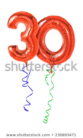 Red balloons with ribbon - Number 30 Stock photo © Zerbor