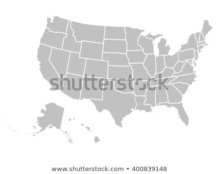 EUA mapa detalhado Estados Unidos lata Foto stock © markbeckwith