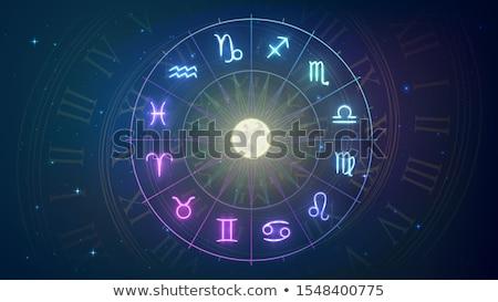 Zodiak bezszwowy wzór wektora biały graficzne Zdjęcia stock © aliaksandra