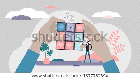 Rozwiązanie kostki streszczenie minimalistyczne transformator puszka Zdjęcia stock © tracer