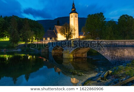 Church of Sv. John the Baptist and a bridge Stock photo © Fesus