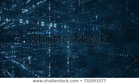 3D プログラマ 行列 文字 抽象的な バイナリコード ストックフォト © maxmitzu