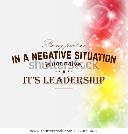 Pozitif değil saf negatif Stok fotoğraf © maxmitzu