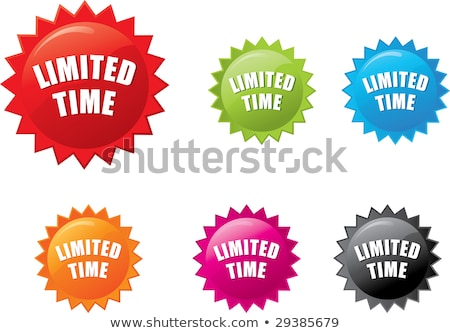 Limited Time Offer Blue Vector Icon Design stock photo © rizwanali3d