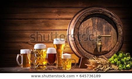 Buğday bira mavi beyaz arka plan bayrak Stok fotoğraf © Rob_Stark