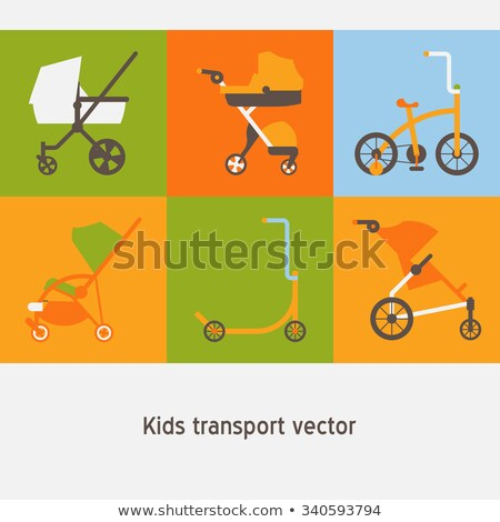 Child buggy flat stylized illustration Stock photo © Anna_leni