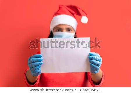 サンタクロース メッセージ 作品 紙 図面 陽気な ストックフォト © romvo