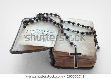 Библии · корона · черный · кожа · золото - Сток-фото © wavebreak_media