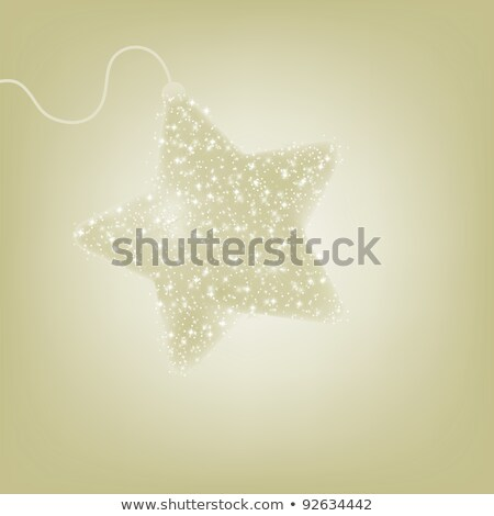 Postcard with a twinkling gold star. EPS 8 Stock photo © beholdereye