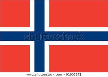 norweski · grunge · banderą · podróży · wiatr · Europie - zdjęcia stock © k49red