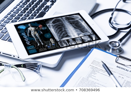 Medical records and Stethoscope Stock photo © Klinker
