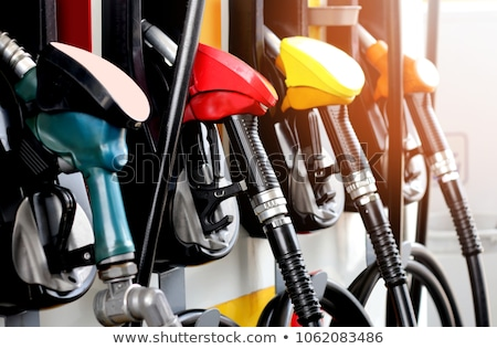 Benzinpumpa három függőleges kép autó olaj Stock fotó © Koufax73