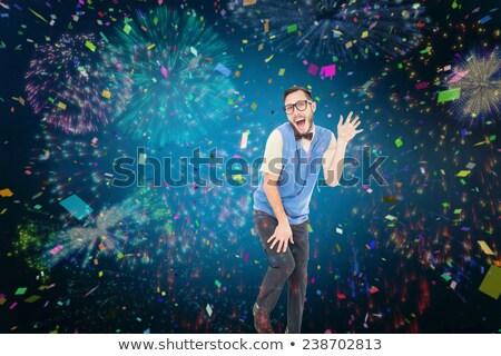 Hipszter tánc ahogy bolond fehér tánc Stock fotó © wavebreak_media