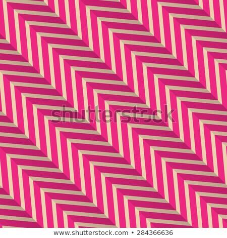 Retro magenta diagonale strisce zig-zag vintage Foto d'archivio © Zebra-Finch