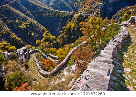 Trekking path in mountains in Greece Stock photo © mahout