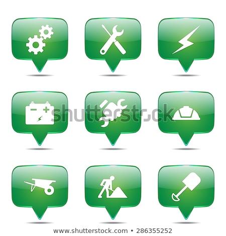 construction tools square vector green icon design set stock photo © rizwanali3d