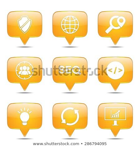 seo · internet · teken · vierkante · vector · Geel - stockfoto © rizwanali3d