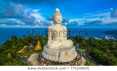 nagy · Buddha · Phuket · márvány · szobor · égbolt - stock fotó © yongkiet