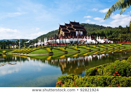 ho kham luang northern thai style building in royal flora expo stock photo © scenery1