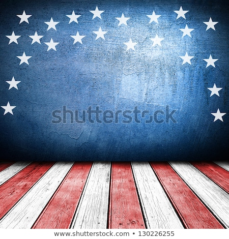 geïllustreerd · sterren · vaderlandslievend · frame · Blauw - stockfoto © irisangel