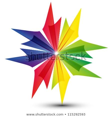 Colorido 3D objetos diseño de logotipo elemento negocios Foto stock © shawlinmohd