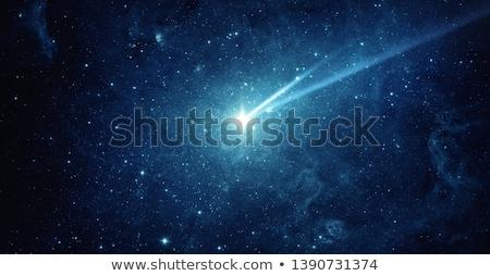 ストックフォト: 下がり · 星 · クリスマス · 星 · 青空