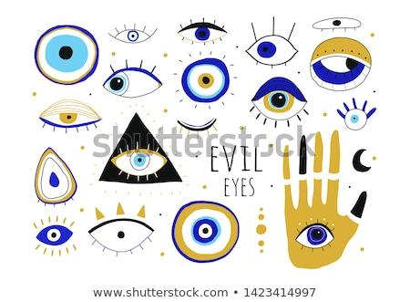 black eye design vector icon stock photo © blaskorizov