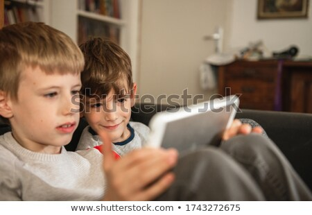 Sharing tablet. Stock photo © Fisher