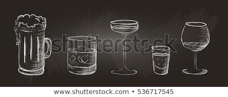ガラス 水 アイコン チョーク 手描き ストックフォト © RAStudio