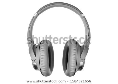 ブルートゥース ヘッド 孤立した 白 マイク スピーカー ストックフォト © shutswis