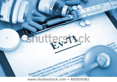 diagnosis   ev 71 medical concept stock photo © tashatuvango